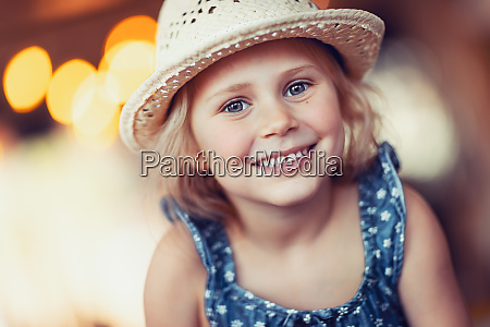 portrait of a nice little girl