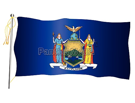 new york state waving flag and