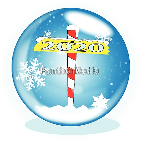 north pole winter globe christmas 2020