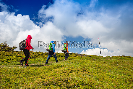 family on a trekking day