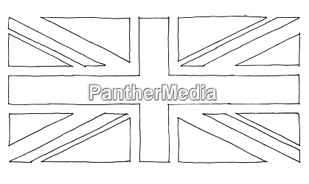 hand drawn flag of the united