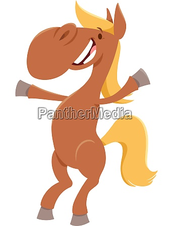 funny horse cartoon farm animal character