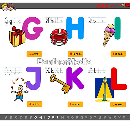 educational cartoon alphabet letters for children