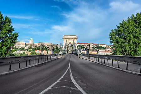 szechenyi chain bridge and national gallery