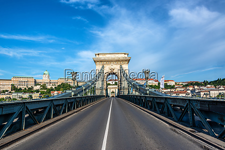 bridge and budapest cityscape