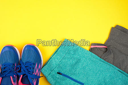 blue womens sneakers and clothes for