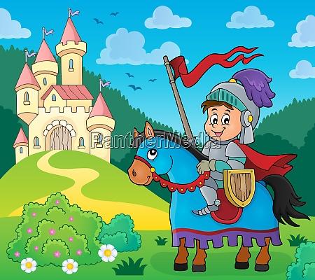 knight on horse theme image 4