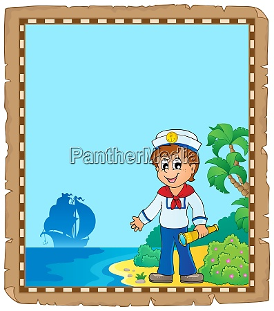 parchment with young sailor