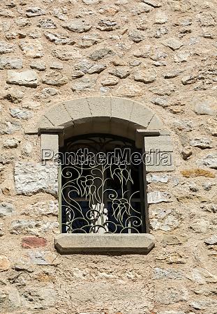 iron decorative lattice in the window