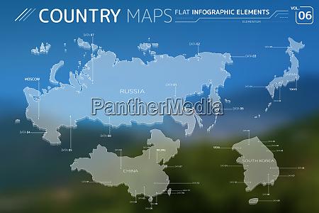russia japan china and south korea