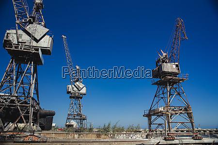 cranes at the docks
