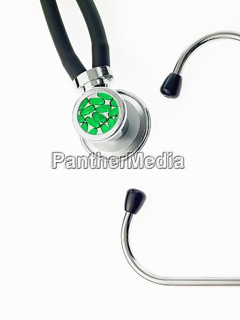 a doctors stethoscope a diagnostic instrument