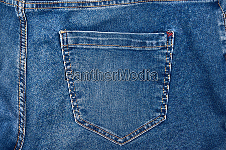 back pocket on blue jeans full
