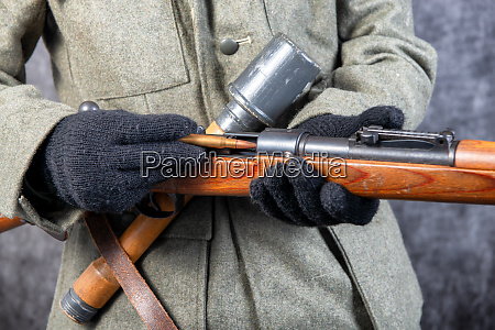 ww ii german soldier with rifle