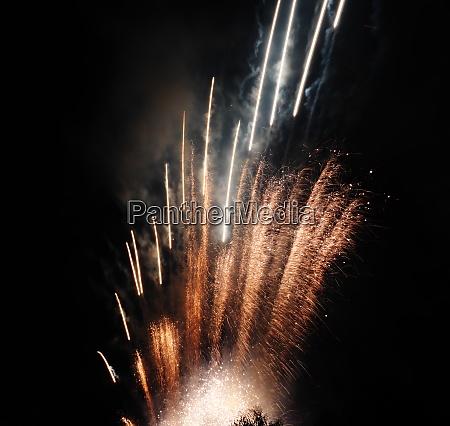 beautiful fireworks at national celebration