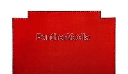 red soft velvet bed headboard isolated