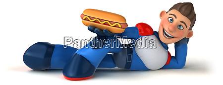 super, modern, superhero, -, 3d, illustration - 27015420