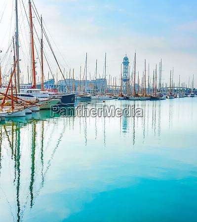 yachts and sailboats barcelona marina