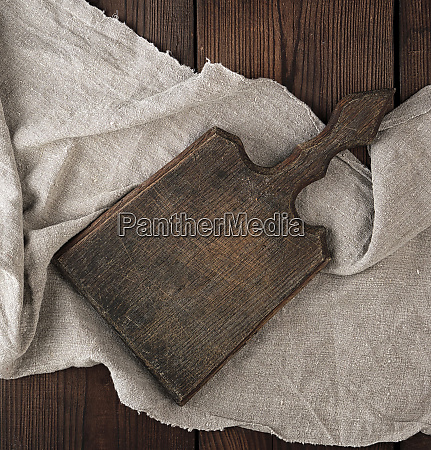 very old empty brown wooden cutting