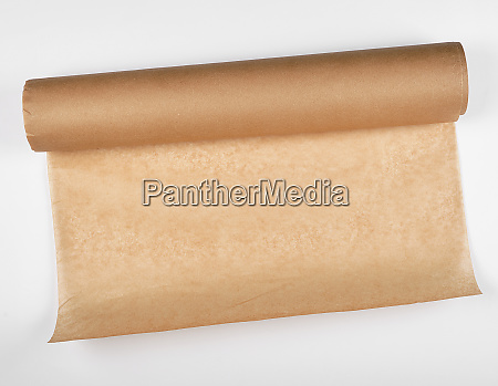 rolled brown parchment paper roll for
