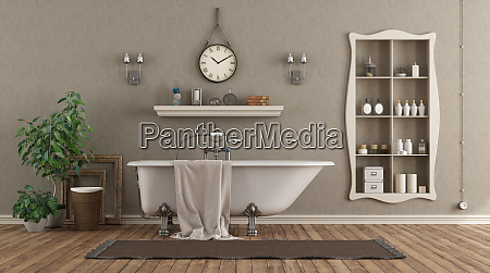 classic bathroom with bathtub and niche