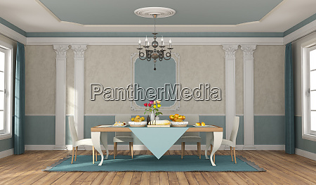 classic dininig room with elegant table