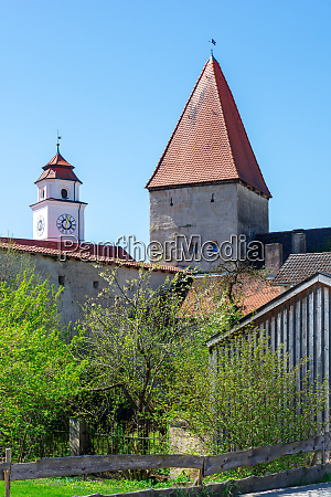 historic medieval tower in dollnstein