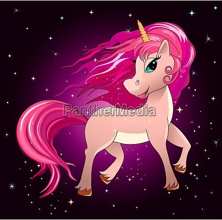 the magical unicorn in the night