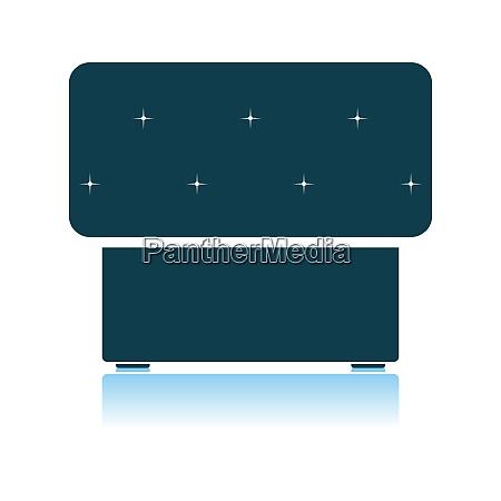 bedroom pouf icon