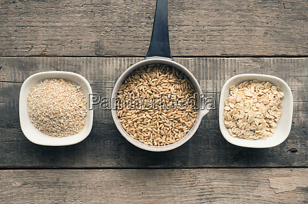 organic oat grain oat meal and
