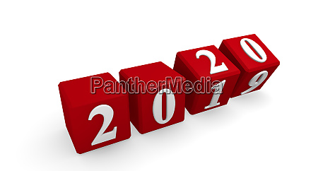 new year 2020 concept 3d image