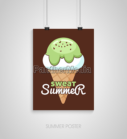 summer poster card sweat summer