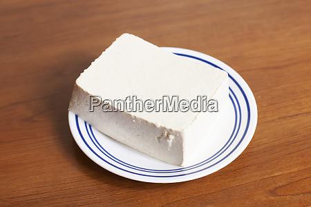 block of raw tofu