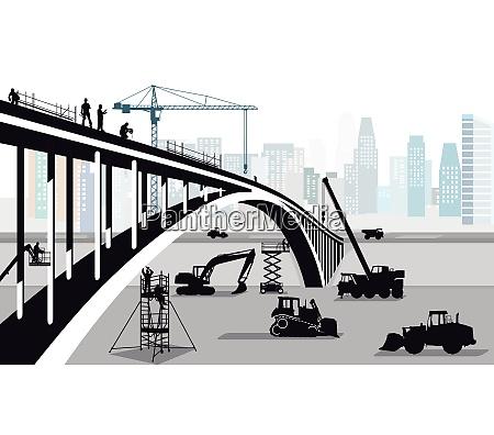 bridge construction in the big city