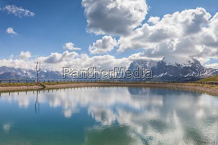mountain lake on the alpe di