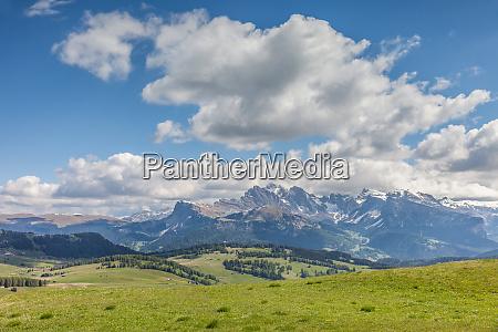 mountain panorama on the alpe di