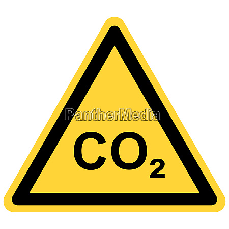co2 and danger sign