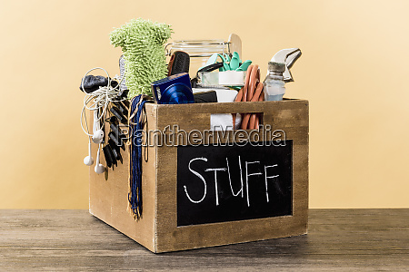 miscellaneous stuff in crate