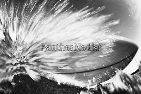 surfboard cutback on ocean