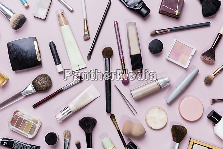 view, from, above, makeup, and, makeup - 27027730