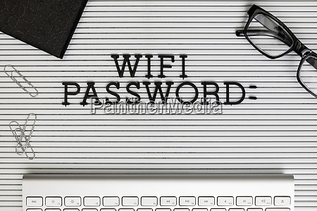 view form above wifi password on