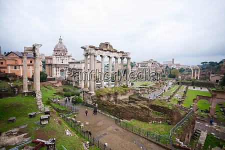 imperial forums view rome italy roma