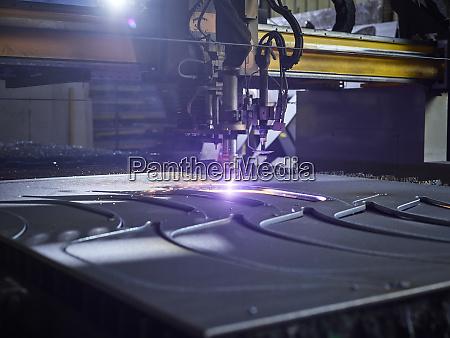 laser cutter in modern factory