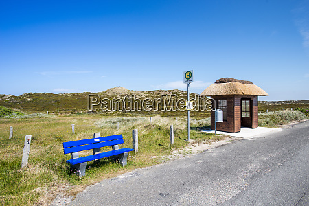 germany schleswig holstein sylt bus stop