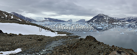 greenland east greenland panoramic view of