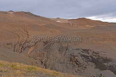 desolate hills in a northern iceland