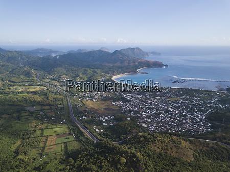 indonesia sumbawa maluk aerial view
