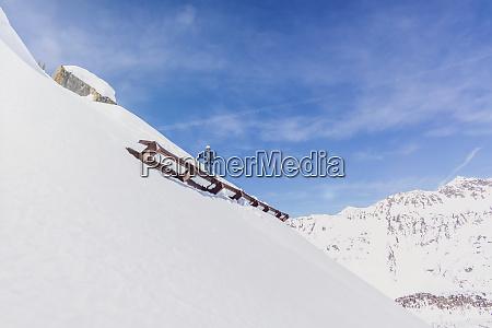 austria tyrol galtuer skier standing above