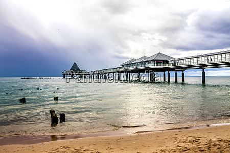 germany usedom heringsdorf pier under cloudy
