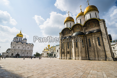 russia moscow assumption cathedral on sobornaya